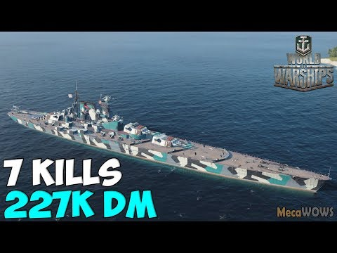World of WarShips | Vladivostok | 7 KILLS | 227K Damage - Replay Gameplay 1080p 60 fps