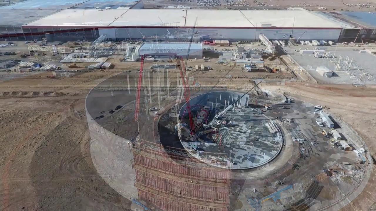 imágenes aéreas de la Gigafactory