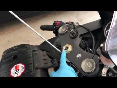 2012 Suzuki GSXR 600 Air Filter Change Clean