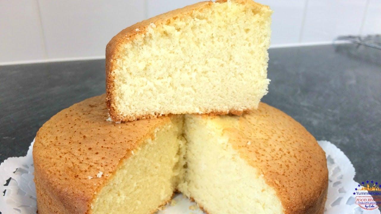 How To Make A Moist Cake Sponge