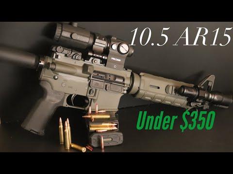 "PSA 10.5 5.56 NATO 1/7 nitride AR 15 pistols kit. ""Budget pistol """