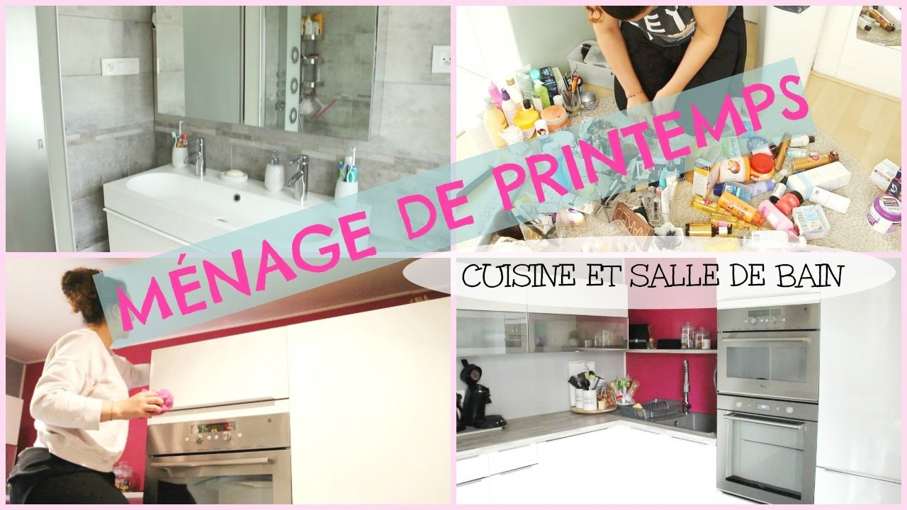 organisation m nage de printemps cuisine et salle de bain youtube. Black Bedroom Furniture Sets. Home Design Ideas