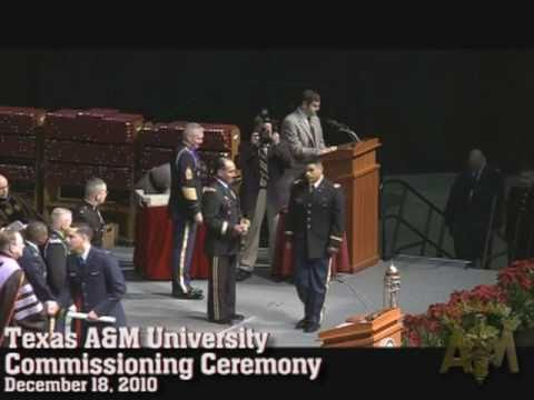 Texas A&M Commissioning Ceremony Dec 2010