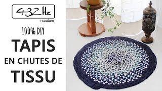 diy couture le tapis en chutes de tissu