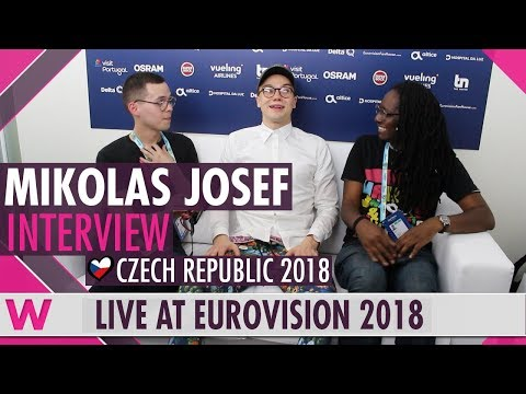Mikolas Josef (Czech Republic) interview @ Eurovision 2018