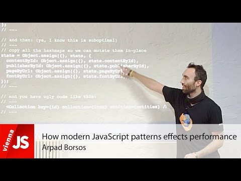 How modern JavaScript patterns affects performance
