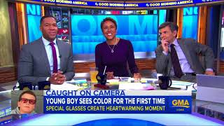 GMA - Color blind boy sees color for the first time