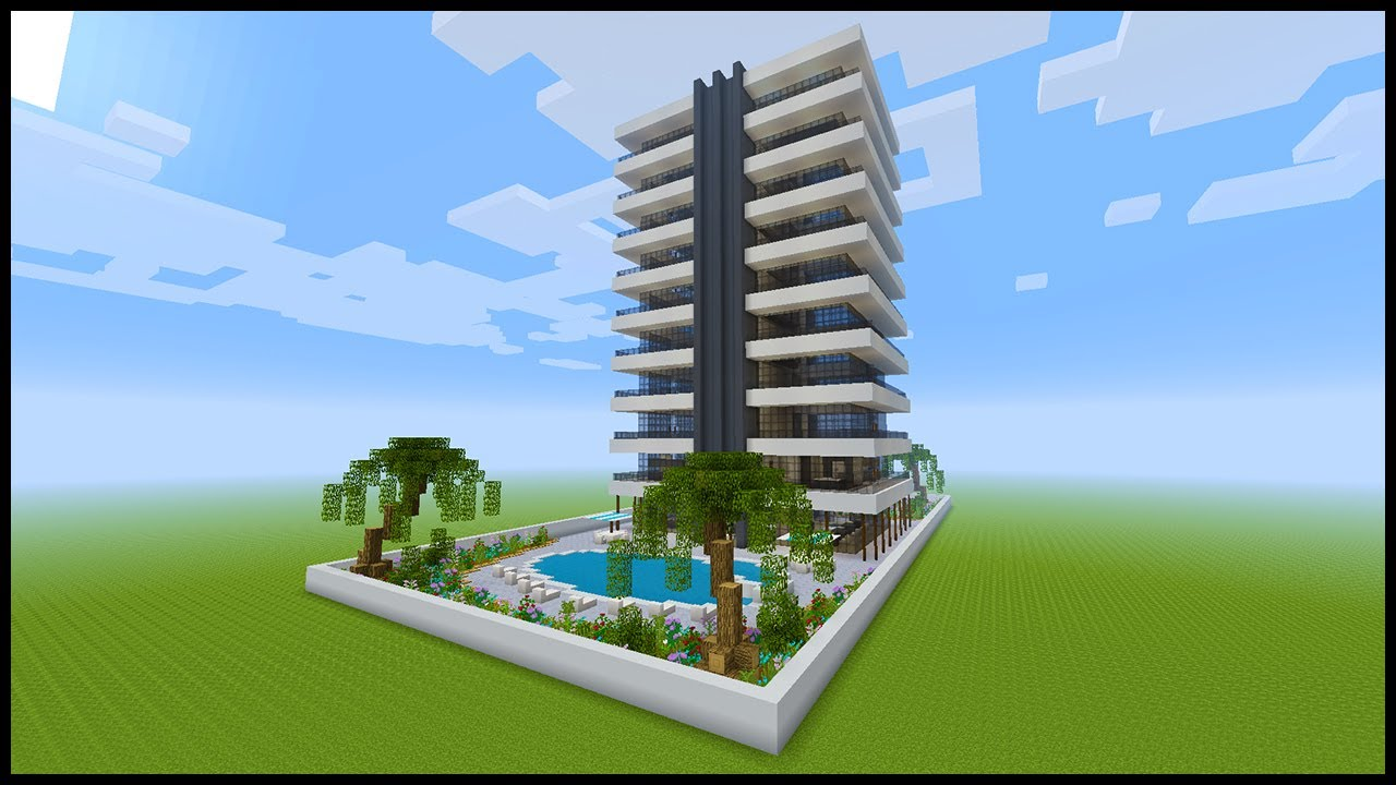 Minecraft How To Build a Modern Hotel   PART 12