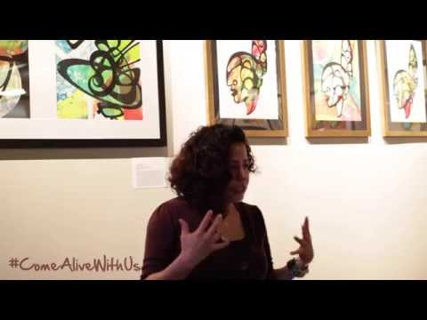 Favianna Rodriguez at Omi Gallery Part 1/3