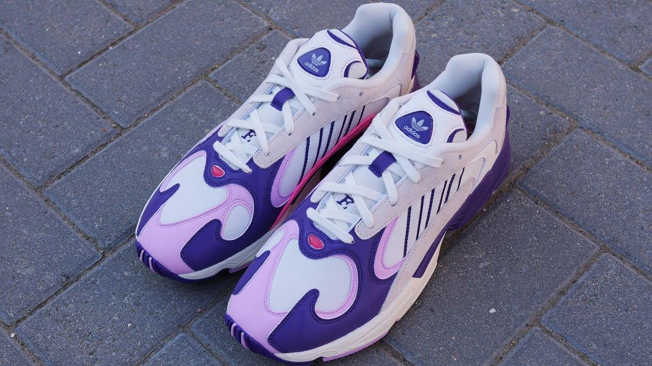 Dragon Ball Z x Adidas Yung 1  Frieza  Review   On Feet (White Purple Lilac) 291c2e13a