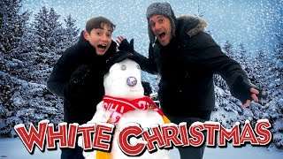 White Christmas Surprise - The Singing Snowman - Family Fun In The Snow!