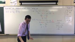 Solving Equations w/ Variables on Both Sides