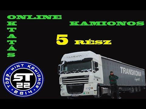 17.A kamionos.Online sofőr betanítás kezdőknek.5.rész.
