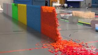 128,000 Dominoes   Falling into past   a journey around the world 2 Guinness World Records)   YouTub thumbnail
