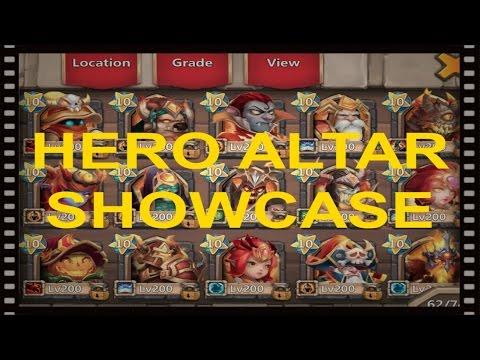 Castle Clash - Hero Altar Showcase - 16/01/17
