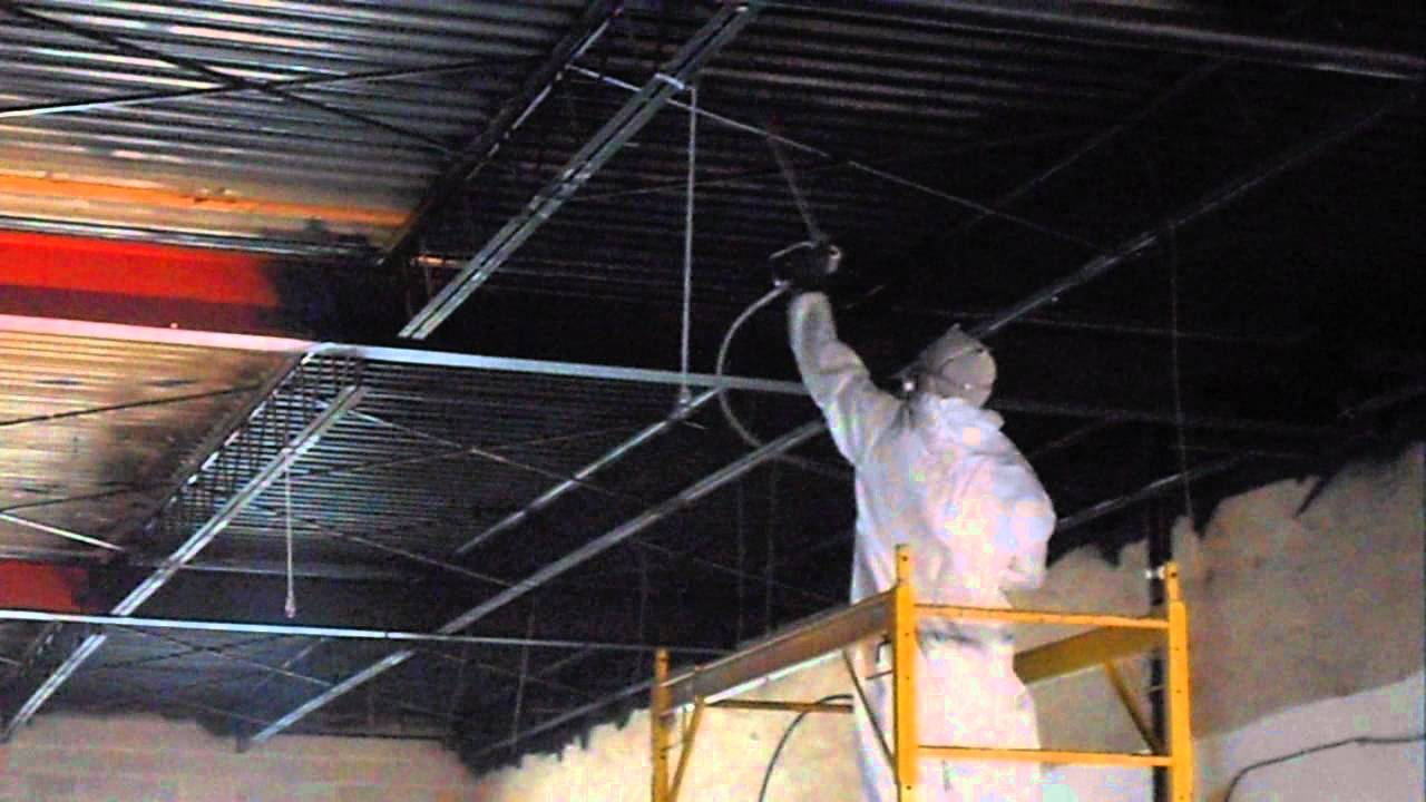 How To Spray Paint A Basement Ceiling Black