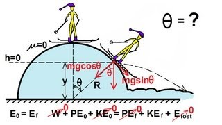 Physics - Mechanics: Conservation of Energy (10 of 11) Skiing Down A Hill