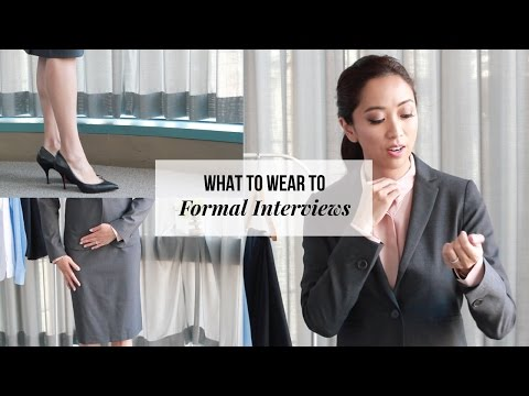 What To Wear To An Interview - Business Formal Attire for Women