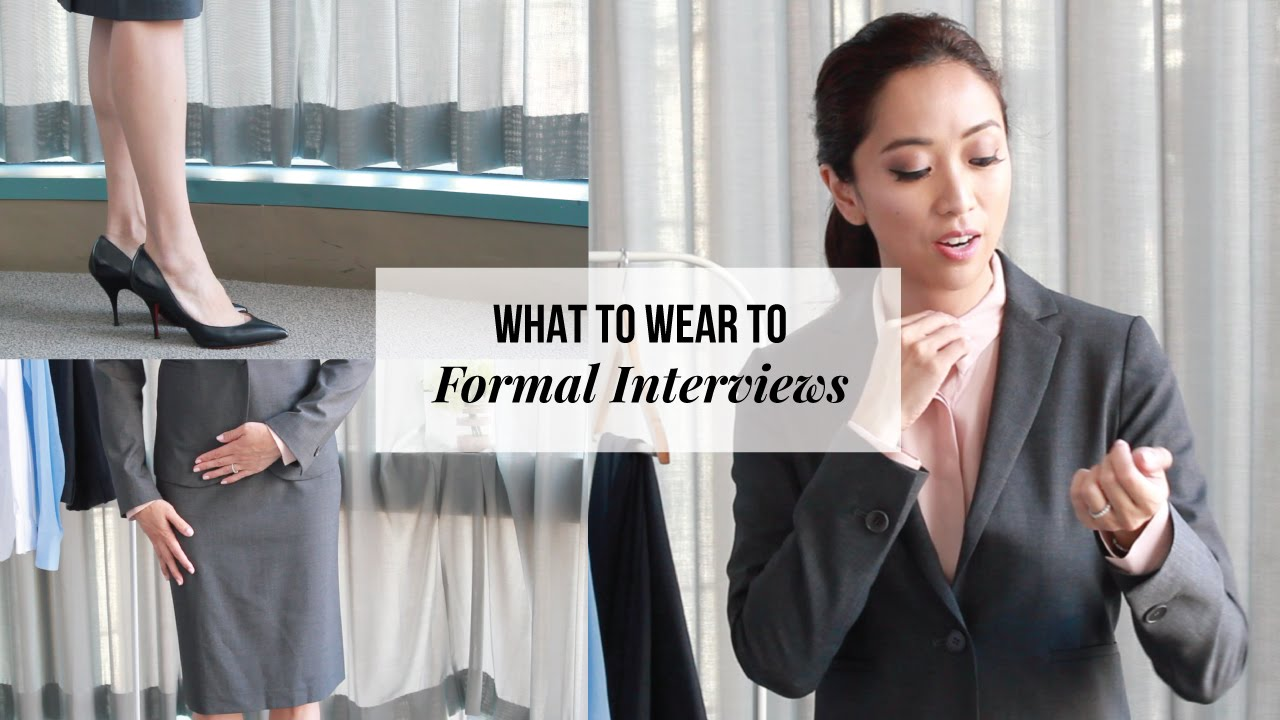 what to wear to an interview business formal attire for women youtube [ 1280 x 720 Pixel ]