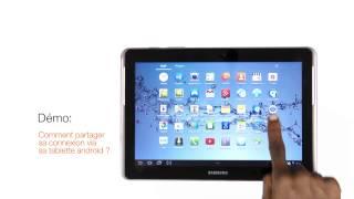 comment partager sa connexion via sa tablette android