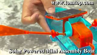 A very interesting boat-TomTop Solar toys