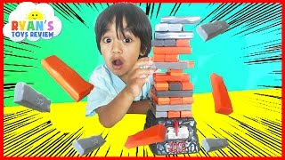 Family Fun Game for Kids Jenga Quake Egg Surprise Toys Marvel SuperHero Blind Bag Ryan ToysReview