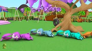 спящие зайчики | кролик песня | кролик стихотворение | Bunny Rhymes in Russia | Sleeping Bunnies