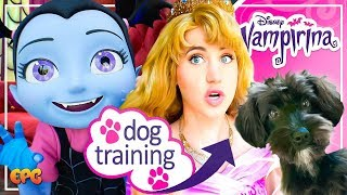 Disney Princesses Train My Puppy! Vampirina Meet and Greet at Disneyland!