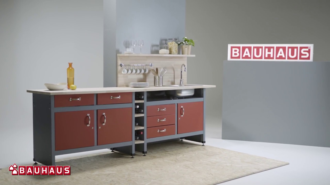 Crea Una Cocina Con Unos Bancos De Trabajo Bauhaus
