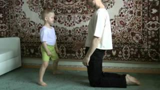 ДЕТСКОЕ КАРАТЭ ДОМА. Урок 3,4,5: блоки, удары ногами, отработка реакции и отбивание ударов