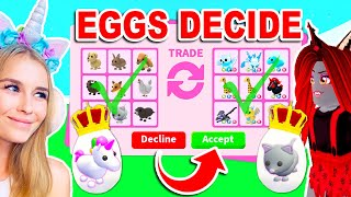 EGG *RARITY* DECIDES What PETS We TRADE Each other In Adopt Me! (Roblox)
