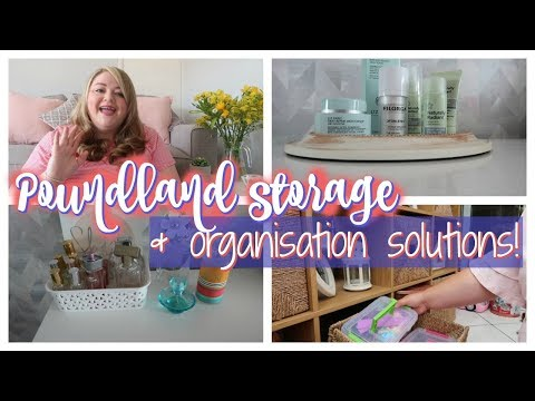 POUNDLAND STORAGE & ORGANISATION SOLUTIONS || POUNDLAND HAUL AUGUST 2018 || My Happy Ever After
