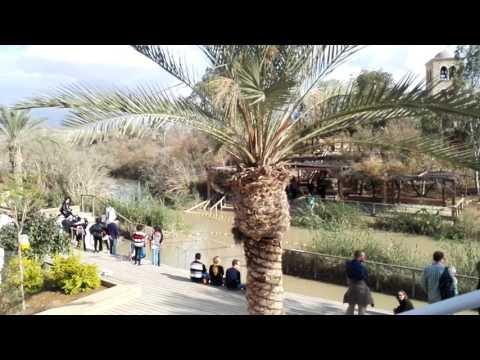 The place where Jesus was baptized by John the Baptist. Qasr el Yahud, Israel