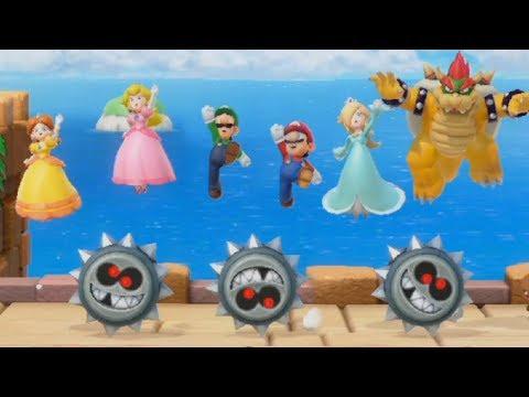 Super Mario Party - Luigi & Mario vs Wario & Waluigi| Cartoons Mee