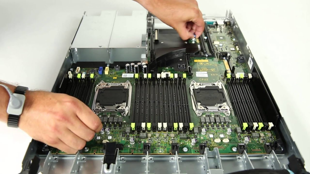 Dell PowerEdge R630: Remove & Install Remove System Board - YouTube