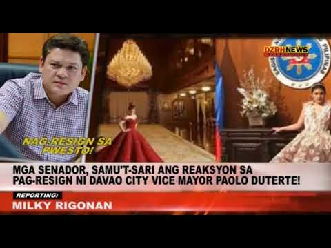 Pagbitiw ni Davao Vice-mayor Paolo Duterte, umani ng iba't-ibang reaksyon sa Senado