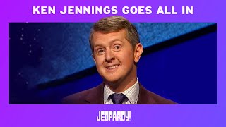 Ken Jennings Goes All In – James Holzhauer-Style | JEOPARDY!