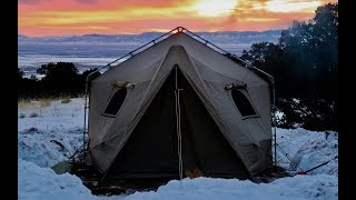 Living in a Tent w/ Wood Stove: New REMOTE Colorado Dispersed Winter Campsite