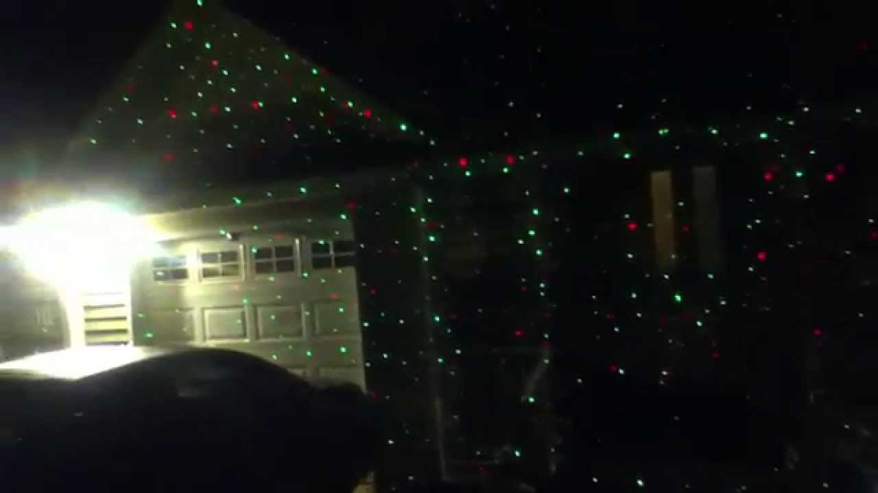 Star Shower Laser Christmas Lights - YouTube