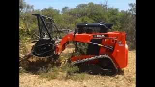 Mini Excavator Sales - ECM ETL160 4 Track Loader with Mulcher