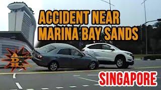 Accident Near Marina Bay Sands Singapore