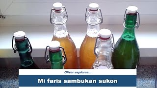 Mi faris sambukan sukon | I made elderberry flower juice | #Esperanto