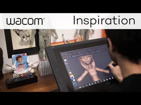 3D Art Director Juan Carlos Cuadra Designing Live with a Cintiq + ZBrush