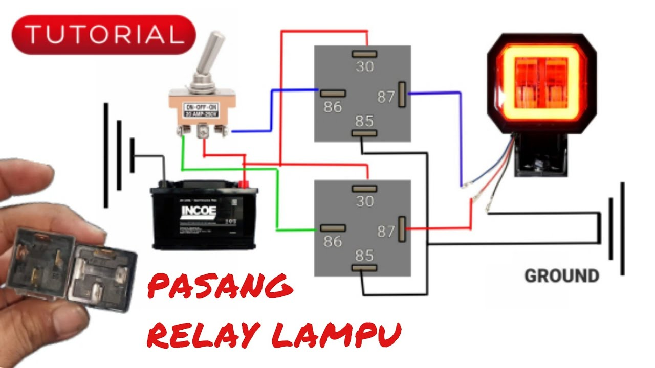 Cara Pasang Relay Lampu Youtube