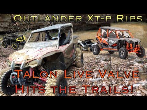 Talon Live Valve + Outlander Xtp 1000 RIPS TRAILS X3, Talon R, MORE!!