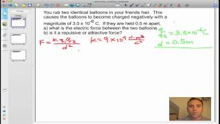 Electrostatic Force / Coulombs Law Problem Solution