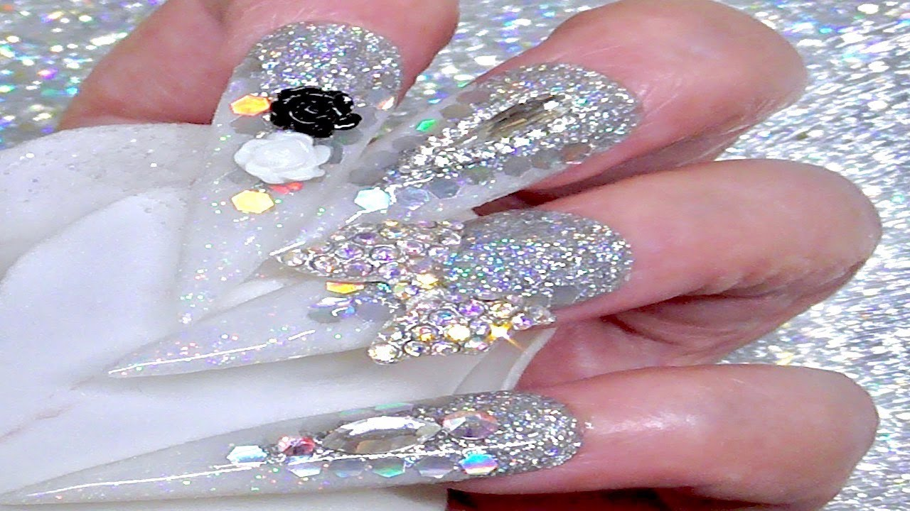 HOLOGRAPHIC JUST FOR FUN ( Acrylic Nails ) - YouTube