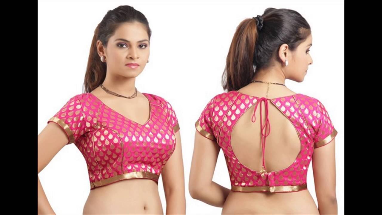 Latest saree blouse design neck - Latest Saree Blouse Design Neck 35