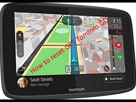how to reset GPS Tomtom GO 520 with WiFi