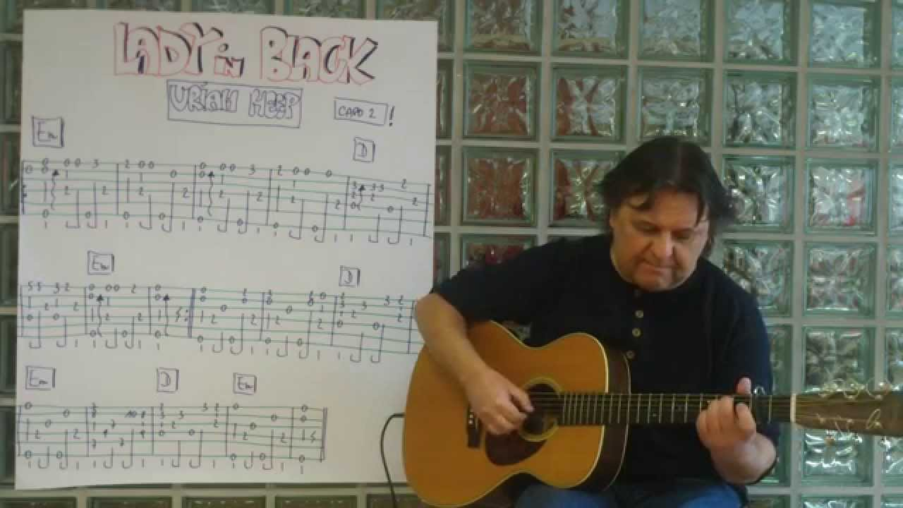 Fingerstyle Guitar Lesson 82 Lady In Black Uriah Heep Youtube